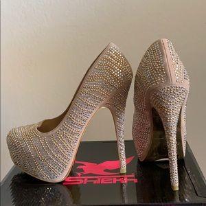 Rhinestone Studded Heels